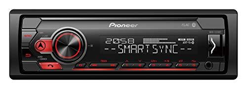 Pioneer MVH-S310BT 1DIN Autoradio mit halber Einbautiefe, Menüsprache deutsch, Bluetooth, USB, AUX-IN, Freisprechen, rot