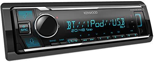 Kenwood KMM-BT306 USB-Autoradio mit Bluetooth Freisprecheinrichtung (Alexa Built-in, Soundprozessor, MP3, Spotify Control, 4x50 Watt, Beleuchtung einstellbar) Schwarz