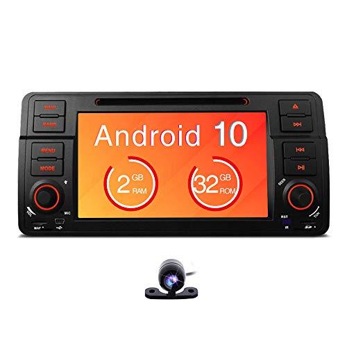 Kompatibel mit BMW E46 / 320/325 Quad Core 7 'Android 8.1 Autoradio, Multi-Touchscreen-Radio mit GPS 1080P OBD2 und Wifi CANbus Reifendrucküberwachung