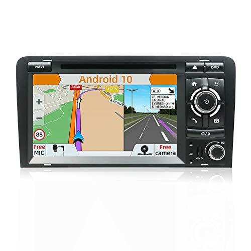 Android 8.1 Doppel-Din-Autoradio mit in-dash GPS-Navigationssystem für Audi A3 2003–2011,Fahrzeugradio mit 7 Zoll Multi-Touch-Display mit gratis Kamera