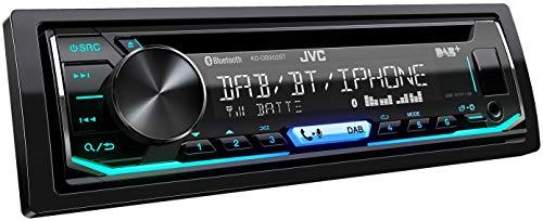 JVC KD-DB902BT DAB+ Autoradio mit CD & Bluetooth Freisprecheinrichtung (Soundprozessor, USB, Android- & Spotify Control, 4x50 Watt, Farben einstellbar) schwarz