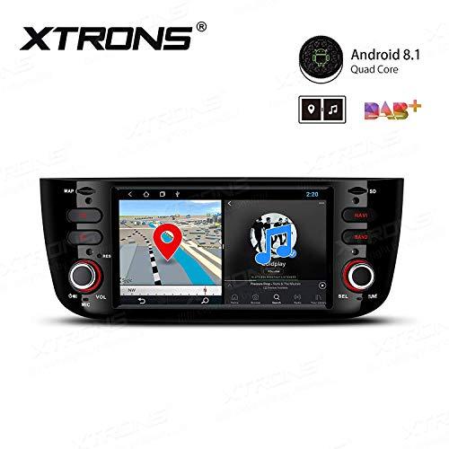 XTRONS 6,2' Android Autoradio mit Touchscreen Android 8.1 Quad Core Multimedia Player Autostereo 4G WiFi Full RCA Ausgang Bluetooth5.0 Lenkradfernbedienung 16GB ROM DAB OBD2 FÜR FIAT