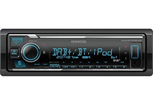 Kenwood KMM-BT505DAB USB-Autoradio mit DAB+ und Bluetooth Freisprecheinrichtung (Soundprozessor, MP3, Spotify Control, 4x50 Watt, Farben einstellbar)