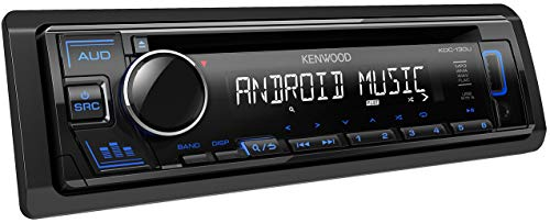 Kenwood KDC-130UB CD-Autoradio mit RDS (Hochleistungstuner, USB, AUX-Eingang, Android Control, Bass Boost, 4x50 Watt, Blau) Schwarz