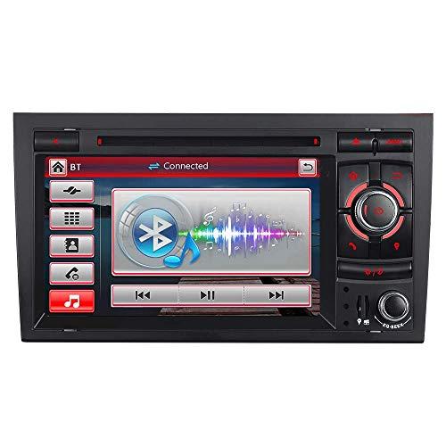 Unilaterale Taste 7' AUTORADIO MIT 3G DVD GPS Navigation USB SD Bluetooth Autoradio CD Moniceiver+Bluetooth+ Dual Zone+Subwoofer+DAB+Mirrorlink+VMCD Für Audi A4 S4 RS4 B6 B7 Seat Exeo