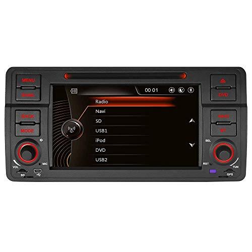 7' AUTORADIO DVD GPS Autoradio Navigation unterstützt Bluetooth CANBUS Dual Zone Subwoofer HD DAB für für BMW E46 M3 325 3er 318 320 Rover75 MG