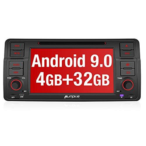 PUMPKIN Android 8.0 Autoradio Moniceiver für BMW 3er E46 mit GPS Navi 4GB Unterstützt Bluetooth DAB + WLAN 4G Android Auto USB MicroSD CD DVD 1 DIN 7 Zoll Bildschirm