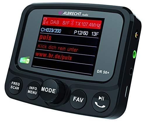Albrecht DR56+ Adapter zum Aufrüsten von Auto-Radios, 27256, FM-Transmitter für DAB+ Sender und Bluetooth-Verbindung vom Smartphone zum UKW-Radio