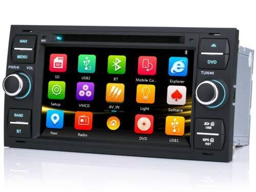 iFrego 7' HD Autoradio DVD Player GPS Navigation RDS SD Bluetooth Touchscreen mit sat NAV GPS Navigation für Ford C-Max/Galaxy/Connect/Kuga/Fiesta/S-Max/Focus/Transit/Fusion/Mondeo