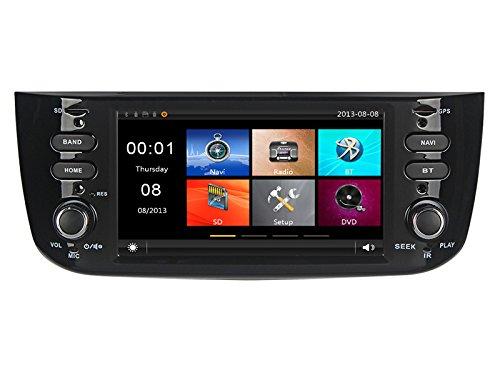 GPS DVD USB SD Bluetooth Autoradio Navi Fiat Punto Evo 2012, 2013, 2014, 2015