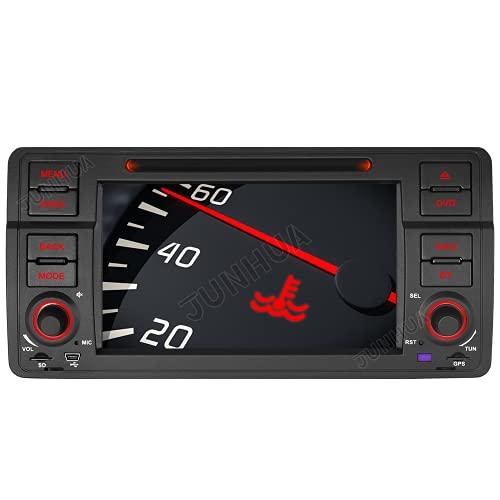 7' AUTORADIO DVD GPS Autoradio Navigation unterstützt Bluetooth CANBUS Dual Zone Subwoofer HD DAB für für BMW E46 M3 325 3er 318 320 Rover75 MG (Radio)