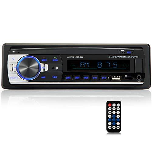iFreGo Autoradio mit Bluetooth Freisprech Autoradio MP3 LCD USB Autoradio AUX BT WAV WMA FM HD Radio Mit Bluetooth Freisprech Musik SD Karten Auto ISO Autoradio 1 DIN RDS 60WX4