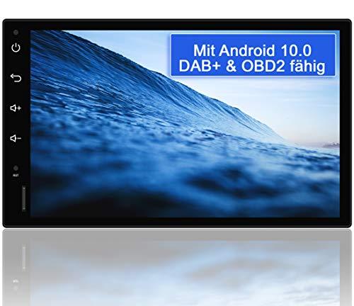 Tristan Auron BT2D7018A Android 10 Autoradio mit Navi - 7' Touchscreen GPS Bluetooth Freisprecheinrichtung I 32GB ROM I MirrorLink WiFi USB SD I DAB+ OBD 2 2 DIN