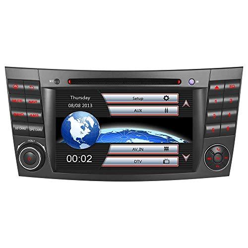 7' AUTORADIO MIT 3G DVD GPS CD Moniceiver GPS Navigation Kartenslot USB Bluetooth CANBUS Dual Zone Subwoofer GPS Antenne DAB Für Mercedes Benz W211 E/G Klasse W219 VMCD RDS