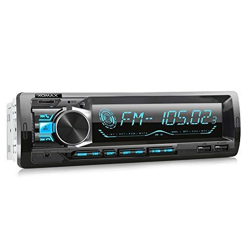 XOMAX XM-R279 Autoradio mit FM RDS, Bluetooth Freisprecheinrichtung, USB, SD, MP3, AUX-IN, 1 DIN
