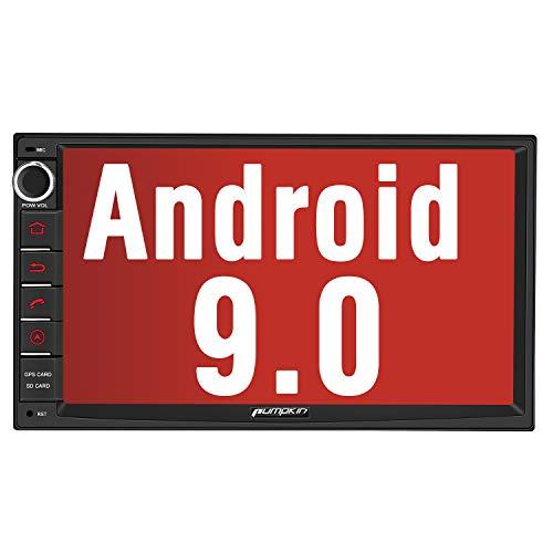 PUMPKIN 9 Zoll Android 9.0 Autoradio für VW Radio Mit PX6 RK 3399 4G+32G Unterstützt Bluetooth Navi DAB + WiFi 4G Android Auto USB MicroSD 2 Din