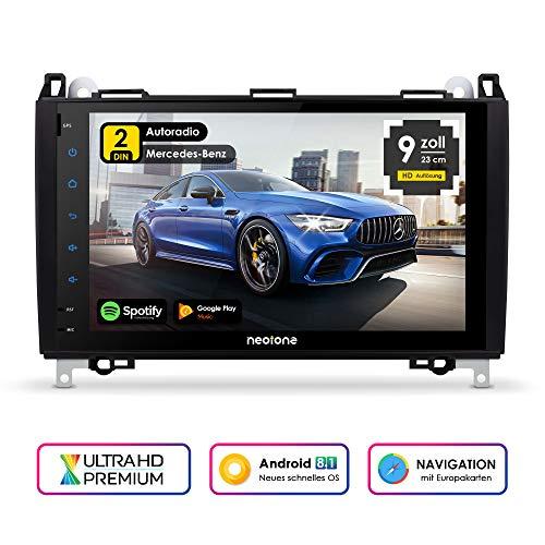 NEOTONE MAX-620A 2DIN Android Autoradio für Mercedes Benz A/B/CLS/G/E/Sprinter/Viano/Vito | Navigation mit Europakarten | DAB+ Unterstützung | WLAN | OBDII | RGB |