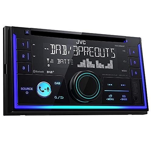 JVC KW-DB93BT Doppel-DIN CD-Receiver mit Digitalradio (DAB+), Bluetooth-Freisprechfunktion und Audiostreaming Schwarz