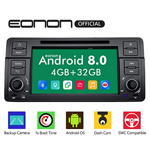 eonon GA9150B Android 8 fit E46 1999 2000 2001 2002 2003 2004 2Din 17,8cm 7' LCD Indash Audio Video Stereo Autoradio Touchscreen DVD GPS USB SD Bluetooth FM AM RDS support WiFi DAB+ 4G Headunit