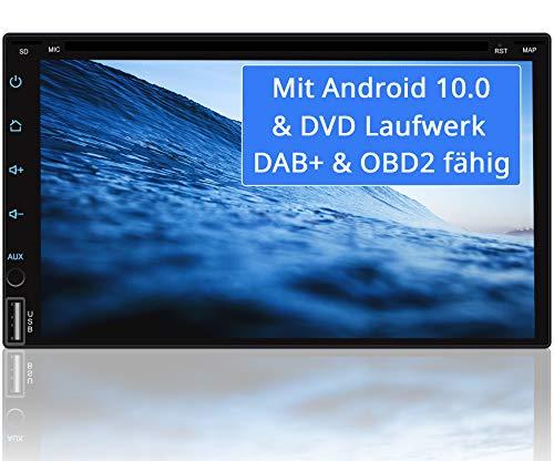 Tristan Auron BT2D7018A-DVD Android 10 Autoradio mit Navi - 7' Touchscreen GPS Bluetooth Freisprecheinrichtung I 32GB ROM I MirrorLink WiFi USB SD I DAB+ OBD 2 2 DIN