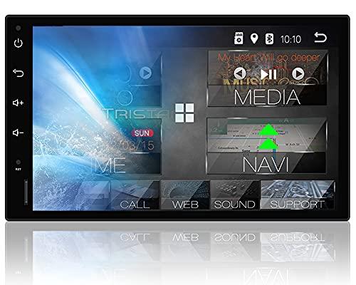 Tristan Auron BT2D7018A Android 10.0 Autoradio mit Navi - 7' Touchscreen GPS Bluetooth Freisprecheinrichtung I 32GB MirrorLink USB SD DAB Plus OBD 2 DIN