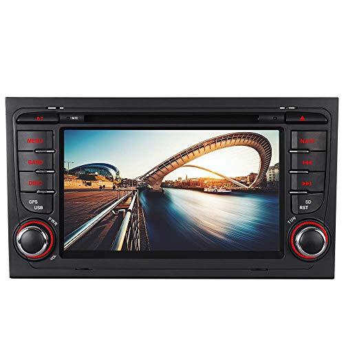 Bilaterale Taste 7' AUTORADIO MIT DVD GPS Navigation USB SD Bluetooth Autoradio CD Moniceiver+Bluetooth+ Dual Zone+Subwoofer+DAB+VMCD Für Audi A4 S4 RS4 B6 B7 Seat Exeo WM (Bilaterale Taste)