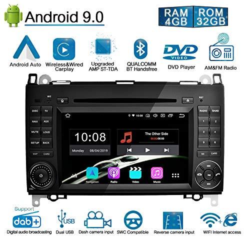 Ohok 7 Zoll Bildschirm 2 Din Autoradio Android 9.0 Pie Octa Core 4G+32G Radio mit Navi Moniceiver DVD GPS Navigation Unterstützt Bluetooth DAB+ für Mercedes-Benz A-Class/B-Class/Viano/Vito/Sprinter