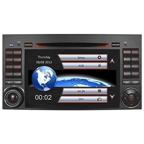 A-SURE Autoradio für Mercedes Benz A/B Klasse Vito Viano W169 W245 BiB DVD GPS Navigation Bluetooth Freisprecheinrichtung 7' USB Micro SD AUX DVD CD DAB+ Mirrorlink VMCD ZTBABQ