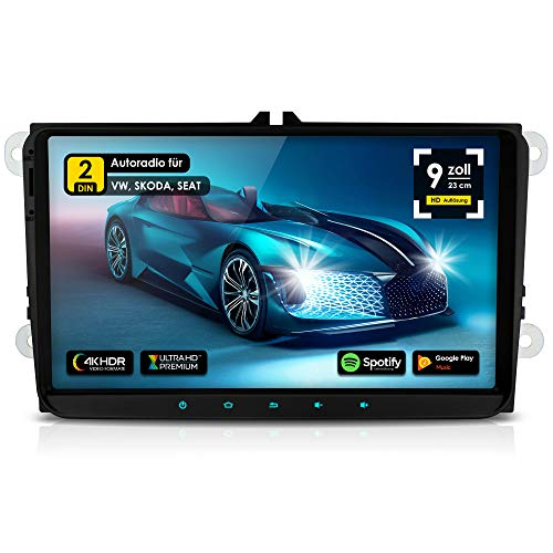 NEOTONE WRX-990A Autoradio für VW, Skoda, Seat, Android 10.0 Q, Navitel Navigation Europakarten 2021 + Lifetimeupdate, 4GB Ram, 32GB Rom, DAB+, USB, WLAN, Bluetooth, MirrorLink, RDS, OBDII