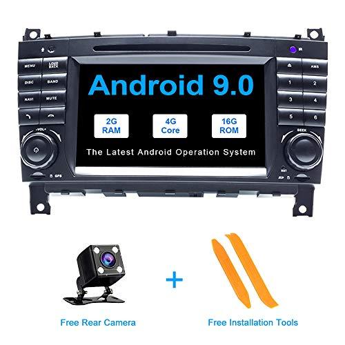 ZLTOOPAI Android 9.0 autoradio für Mercedes Benz w209 / w203 / Sprinter/Viano/vito/vw Crafter Audio GPS navi Auto Stereo unterstützung voller RCA Ausgang WiFi SWC