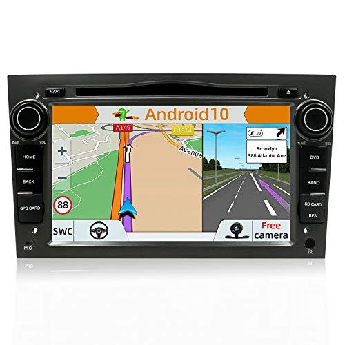 YUNTX Android 10 Autoradio für Opel Astra/Vectra/Zafira Radio mit GPS Navi Unterstützt Bluetooth | DAB+ | USB | Carplay | WiFi | 4G | MicroSD | 2 Din | 7 Zoll | Mirrorlink | RDS