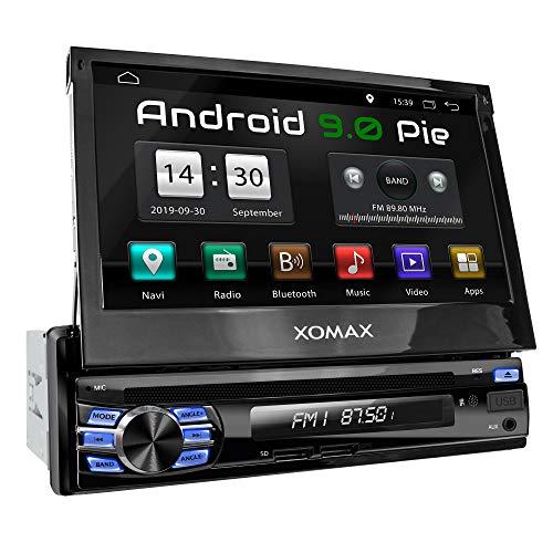 XOMAX XM-DA708 Autoradio mit Android 9.0, QuadCore, 2GB RAM, 32 GB ROM, GPS Navigation, DVD, CD I Support: WiFi WLAN, 3G 4G, DAB+, OBD2 I Bluetooth, 7 Zoll / 18 cm Touchscreen, USB, SD, AUX, 1 DIN